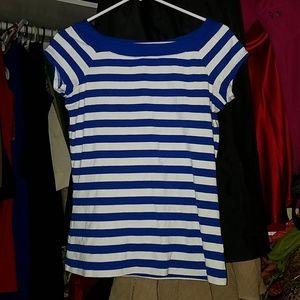 Boat neck 10% Cotton shirt sleeve cotton blouse